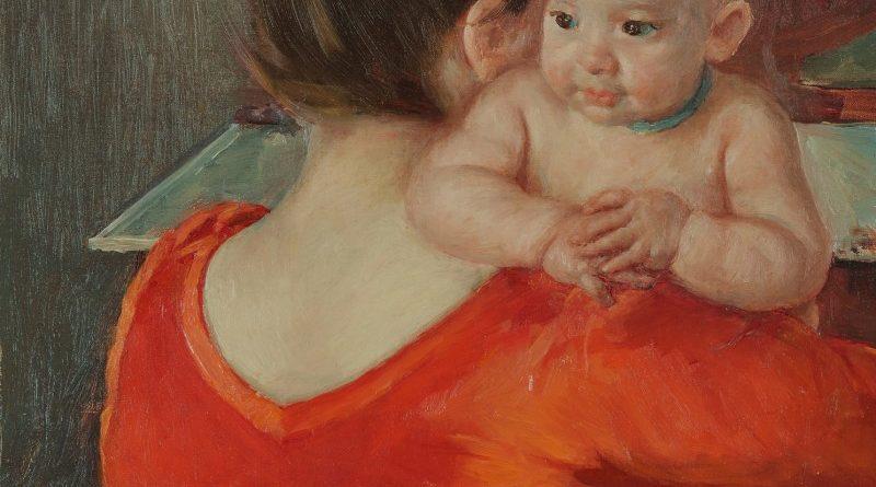 """Ilustracja na czołówce: Mary Cassatt, """"Dziecko Charles patrzące przez ramię matki"""". 1 500 000 USD"""